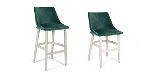 Бар стол Alberta с дървени крака