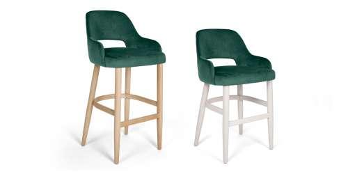 Бар стол Clark с дървени крака